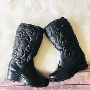 Coach Cantina Tall Wedges Boots Shoes Sz 10